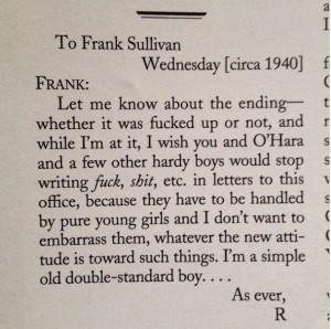 letter from Harold Ross