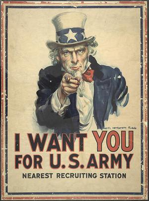1917 World War I Recruiting Poster
