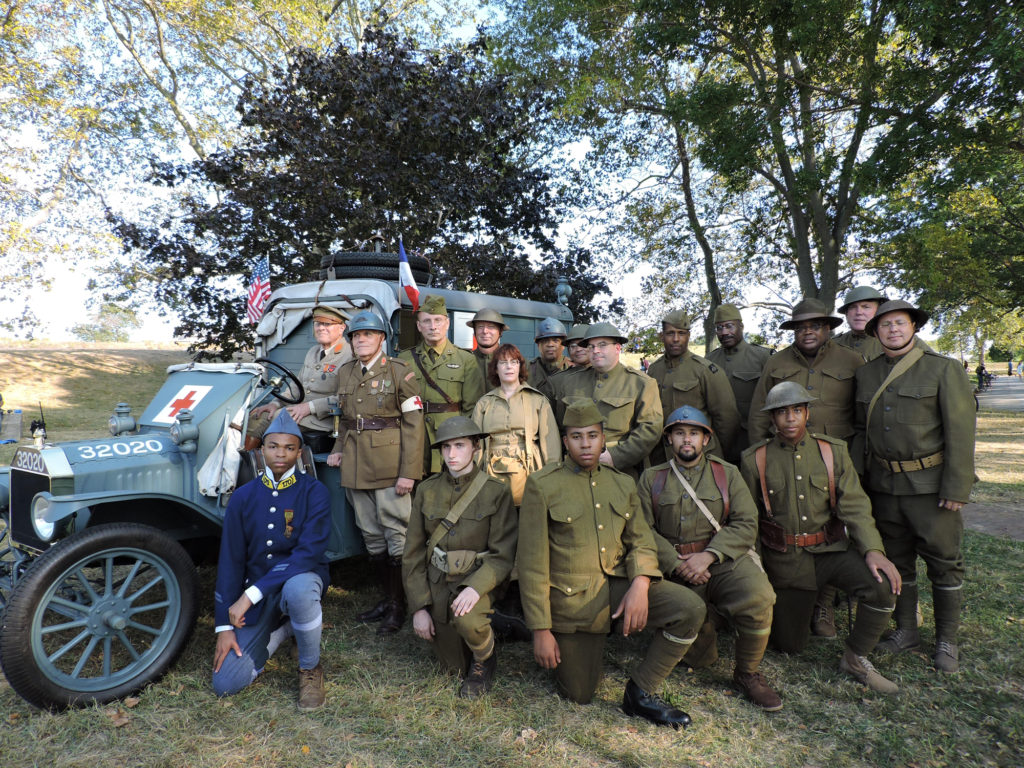 World War I History Day participants on Governors Island, Sept. 2016.