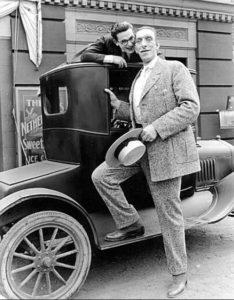 Harold Lloyd (left) and George Auger