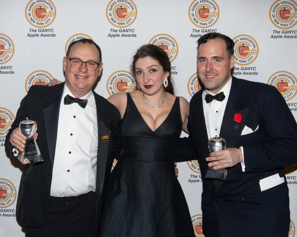 With my friends Tiffany Knight and Marc Hermann, a fellow winner. Credit: Scott Stanger.